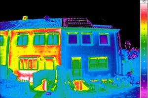 Thermografisches Bild Haus